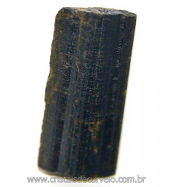 Canudo de Epidoto Pedra Bruto Natural Pra Coleção Cod 106571
