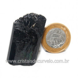 Turmalina Preta Pedra Extra Firme e Dura Natural Cod 119428