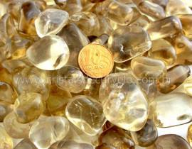 500Grs Citrino Natural de Garimpo Pedra Rolado Reff CN8182