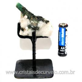 Esmeralda Canudo Pedra Natural com Suporte De Ferro Cod 119344