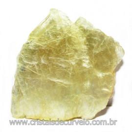 Chapa de Mica Amarela Bruta Natural de Garimpo Cod 115585