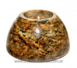 Base ou Suporte Para Esfera Feita de Pedra Sabão Reff 110246