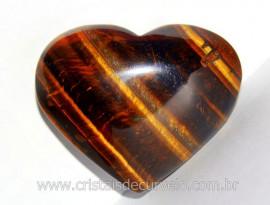 Coração Olho de Tigre Pedra Extra Natural Origem Africa Natural Cod 154.9