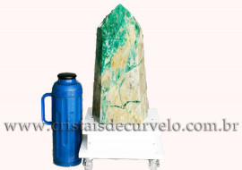 Ponta Jade Verde Pedra Grande 39.5Cm jadeita Natural 109154