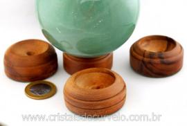Base ou Suporte Em Madeira Para Esferas e Bolas de Cristal Medias
