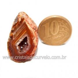 Geodo Ágata Cristais de Calcedônia em Cavidade Cod 121388