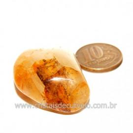Hematoide Amarelo com Inclusão Dendrita Pedra Natural Cod 126207