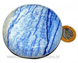 Massageador Disco Quartzo Azul Pedra Natural Cod 103317
