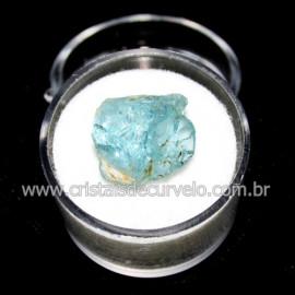 Topazio Azul No Estojo Mineral Bruto Pedra Extra Cod 117152