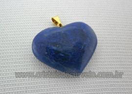 10 Pingente CORAÇÃO Pedra Quartzo Azul Natural Pino Flash Dourado ATACADO
