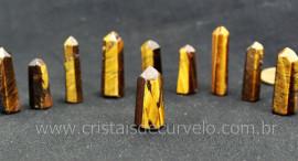 10 Pontinha Gerador OLHO DE TIGRE Pedra Extra Lapidado Tamanho 2.5  Cm