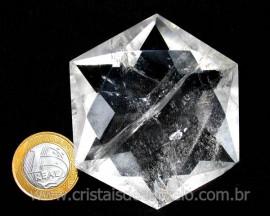 Estrela De Davi Ou Selo de Salomão Pedra Cristal cod ED2971