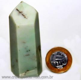 Ponta Pirofilita Verde Gerador Pedra Com Dendrita Cod 101502