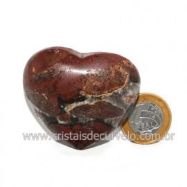 Coração Pedra Quartzo Jiboia Natural Lapidação manual Cod 118991