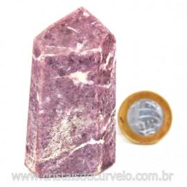 Ponta Lepidolita Pedra Natural Gerador Sextavado Cod 127784