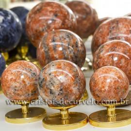 1 Kg Esfera Bola Pedra Calcita Laranja Natural ATACADO 120830