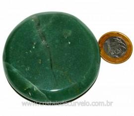 Massageador Disco Quartzo Verde Pedra Natural Cod 1037292
