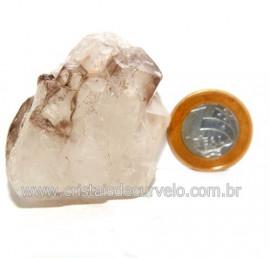 Elestial Cristal Jacare Natural Quartzo Geminado Cod 121586