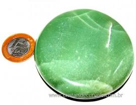 Massageador Disco Cristal Quartzo Verde  Pedra Natural Cod DV4508