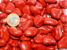 Pedra Rolado JASPE VERMELHO Tamanho Grande Pacote 1kg Pedra de Garimpo