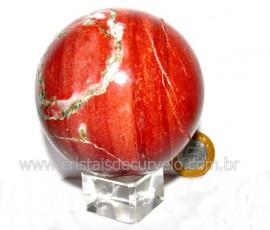 Esfera Dolomita Vermelha Pedra Mineral Natural Cod ED9994