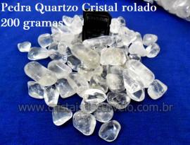 Cristal  Hialino Rolado Pacotinho 200Gr Boa Transparência Quartzo De Garimpo
