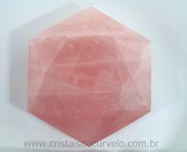 Estrela De Davi Ou Selo de Salomao Pedra Quartzo Rosa Natural 50 a 100 G