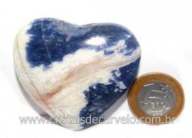Coração Sodalita Pedra Azul Natural de Garimpo Cod 121289
