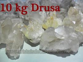 10 KG De Pequenas Drusas de Cristal Pontas Quartzo Comum ATACADO