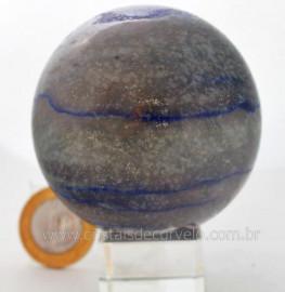 Esfera Quartzo Azul Mineral Natural Pedra Lapidado Manualmente Cod 421.5