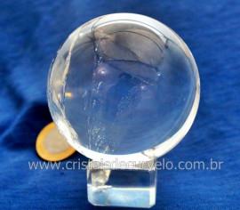 Esfera Bola de Cristal Pedra Quartzo Extra Transparente Tamanho M Cod 396.3