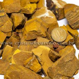 1kg Cascalho Jaspe Amarelo Bruto Natural Para Orgonite
