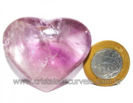Coraçao Ametista Pedra Natural Ideal P/Presentear Cod 116127