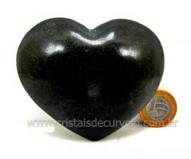 Coração De Quartzo Preto Quartzito Negro Pedra Natural Tamanho Medio Cod 286.7