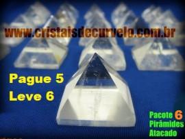 6 Piramides Cristal Pacote Pague 5 leve 6 Medidas 20 a 30 Baseada Queops