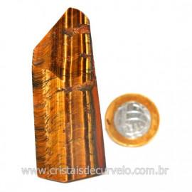Ponta Olho de Tigre Pedra Extra Natural de Garimpo Cod 124182