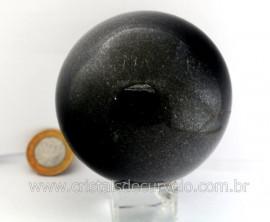 Esfera Pedra Quartzo Preto ou Quartzito Cristal Negro Intenso Cod 800.8