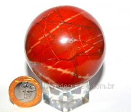 Esfera Dolomita Vermelha Pedra Mineral Natural Cod EV5156