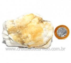 Selenita Laranja Pedra Natural Para Esoterismo Cod 123986