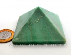 Piramide Quartzo Verde Baseada Queops Pedra Comum Lapidado Manual Cod 163.9