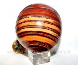 Esfera JASPE RAJADO Pedra Natural Colecionador Lapidado Manual Cod BJR567.4