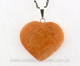 Pingente Coração Pedra Amazonita Rosa Natural Castoação Prata 950 Pino e Perinha