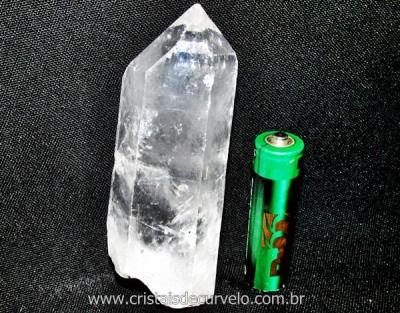 Ponta Cristal Bruto Quartzo de Garimpo Natural Cod CB8236