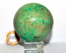Esfera Crisocola Azul Pedra Extra Natural Mineral de Garimpo Lapidado Manual Cod 332.9