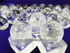 03 Mini Bola de Cristal Esfera Bem Limpa Pedra Extra e Pequena  Kit