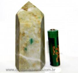 Ponta Nefrita Lapidado Pedra Natural de Garimpo Cod 101462