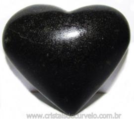 Coraçao Quartzo Preto Quartzito Negro Natural Cod 115334