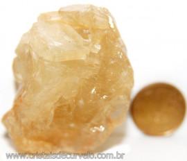 Calcita Mel Pedra Natural P/ Coleção e Esoterismo Cod 106633