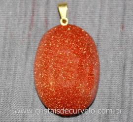 10 Pingente Cabochao Pedra do Sol Montagem Pino Dourado ATACADO