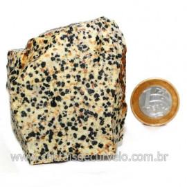 Jaspe Dalmata Pedra Natural Mineral de Esoterismo Cod123298